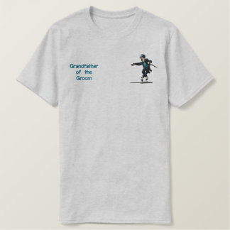 Dancing Groom  - Grandfather of Groom Embroidered T-Shirt