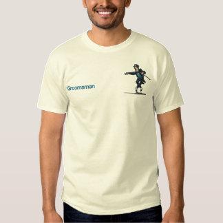 Dancing Groom  - Groomsman Embroidered T-Shirt