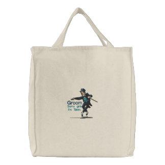 Dancing Groom Tote Bag