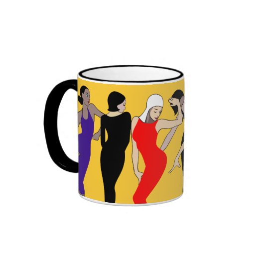 Dancing group ringer coffee mug
