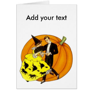 Dancing Halloween Couple Card