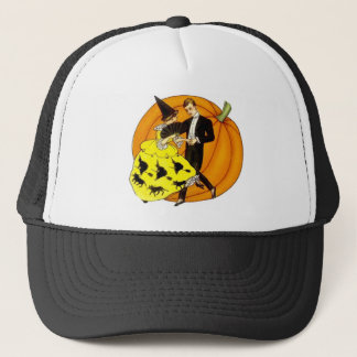 Dancing Halloween Couple Trucker Hat