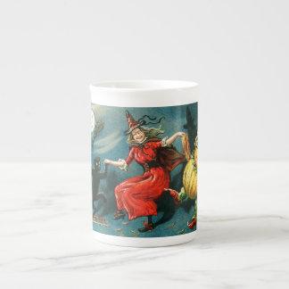 Dancing Halloween Witch Tea Cup