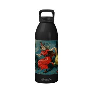 Dancing Halloween Witch Water Bottles