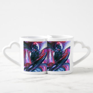 Dancing Hallucination Pastel Abstract Couples Coffee Mug