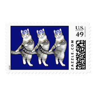 Dancing Hanukkah Cats - Sheet of Postage Stamps