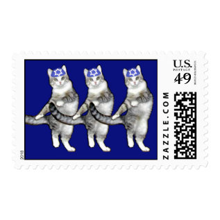 Dancing Hanukkah Cats - Sheet Of Postage Stamps at Zazzle