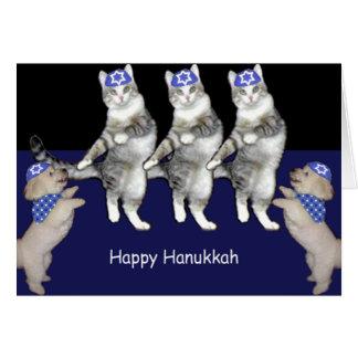 Dancing Hanukkah Kitties Cards