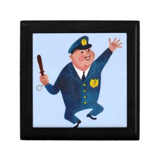 dancing happy cop jewelry box