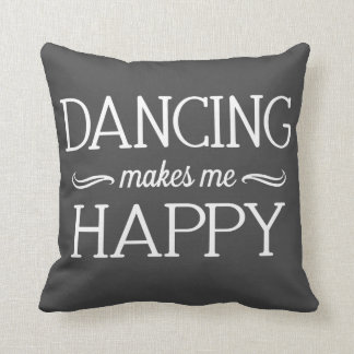 Dancing Happy Pillow - Assorted Styles & Colors