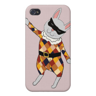Dancing Harlequin Bunny iPhone 4 Case