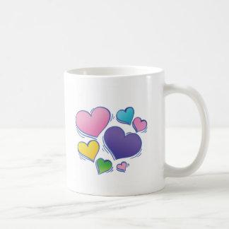 Dancing Hearts Classic White Coffee Mug