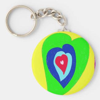 Dancing Hearts Keychain