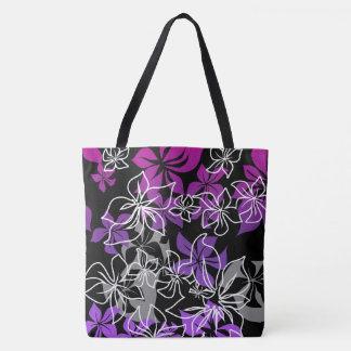 Dancing Hibiscus Hawaiian Blend Beach Bag Tote Bag