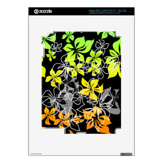 Dancing Hibiscus Hawaiian iPad 3 /Tablet Skin iPad 3 Decals