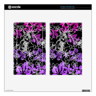 Dancing Hibiscus Hawaiian Kindle or eReader Skin Skins For Kindle Fire