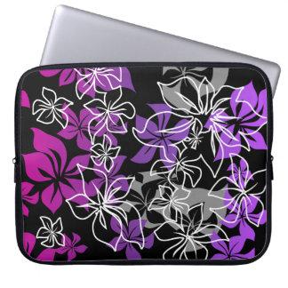 Dancing Hibiscus Hawaiian Neoprene Wetsuit Laptop Computer Sleeve