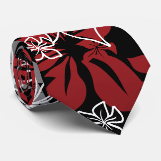 Dancing Hibiscus Hawaiian Two-sided Printed Neck Tie