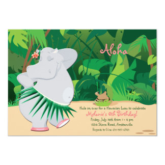 Dancing Hippo Invitation