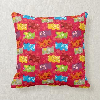 Dancing Hippo Pillow