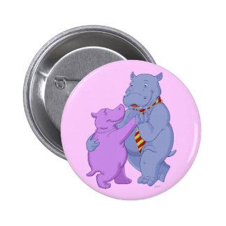 Dancing Hippo Tango Button