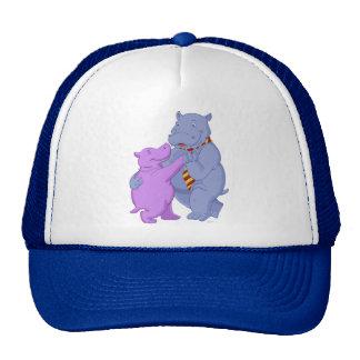 Dancing Hippo Tango Cap Trucker Hat