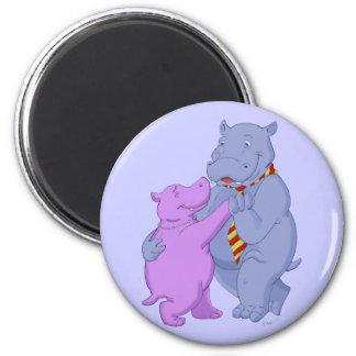 Dancing Hippo Tango Magnet