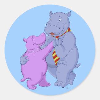 Dancing Hippo Tango Sticker