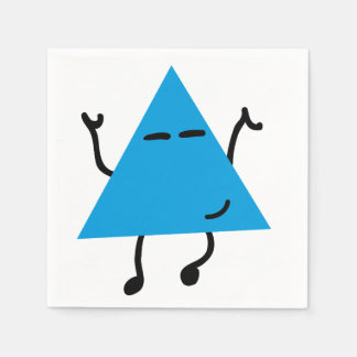 Dancing Hipster Triangle Paper Napkins