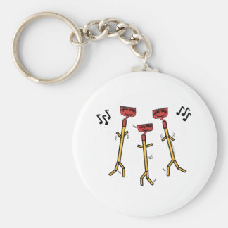 Dancing Hoes Basic Round Button Keychain