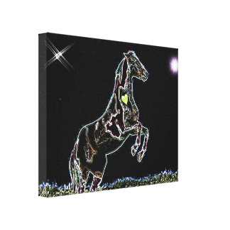 Dancing Horse fancy art Wrap around Canvas print