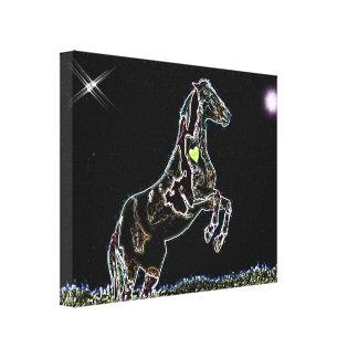 Dancing Horse fancy art Wrap around Canvas print