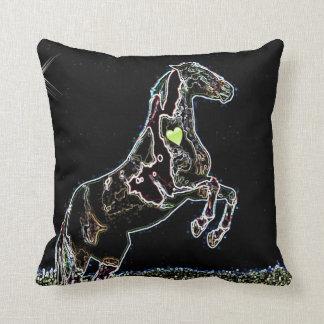 Dancing Horse leap of faith mojo throw pillow