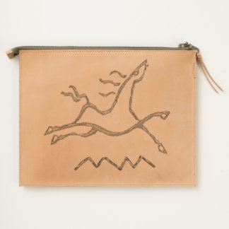 Dancing Horse Leather Travel Pouch