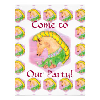 Dancing Horses Children s Party Personalized Invitations