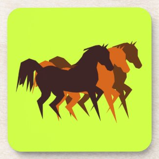 Dancing Horses Cork Coaster