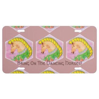 Dancing Horses License Plate