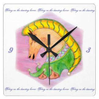 Dancing Horses Wall Clocks