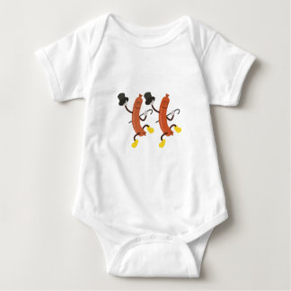 Dancing Hot Dogs Baby Bodysuit