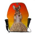 Dancing Hula Dachshund Custom Messenger Bag rickshawmessengerbag