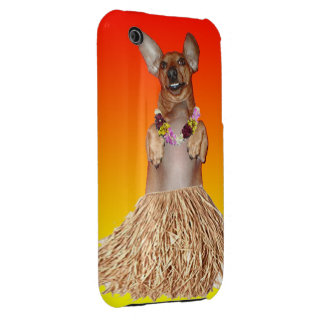 Dancing Hula Dachshund iPhone 3G/3GS Case-Mate iPhone 3 Cases