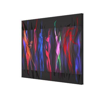 Dancing in Colors of Life by Ritu Gupta Canvas Print