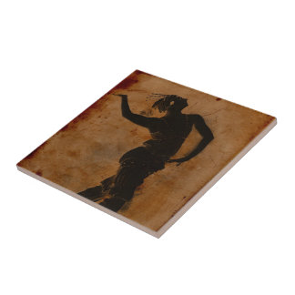 Dancing in Greek Small Square Tile