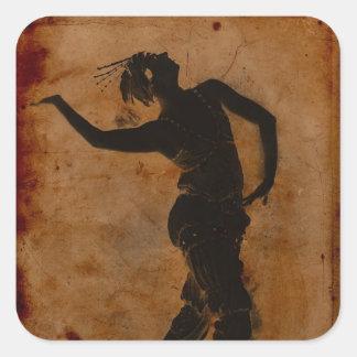 Dancing in Greek Square Sticker