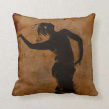 Dancing in Greek Throw Pillows