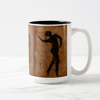 Dancing in Greek Two-Tone Coffee Mug