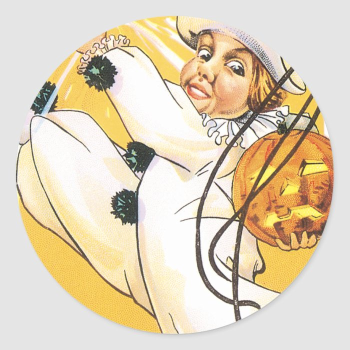 Dancing in My White Costume Classic Round Sticker