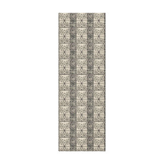 Dancing in Small Squares Tribal Pattern Art Canvas Print