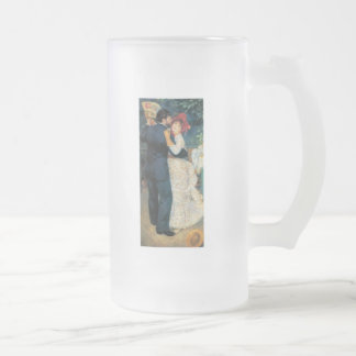 Dancing in the Country Print Frosted Glass Beer Mug