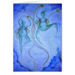 Dancing in the Dark. Greeting Card